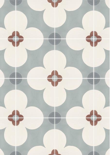 azulejos artisticos, gris, guinda y blanco