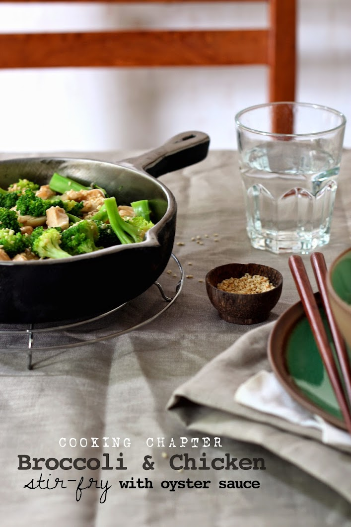 Cooking Chapter Broccoli  Chicken Stir-Fry With Oyster Sauce-3693