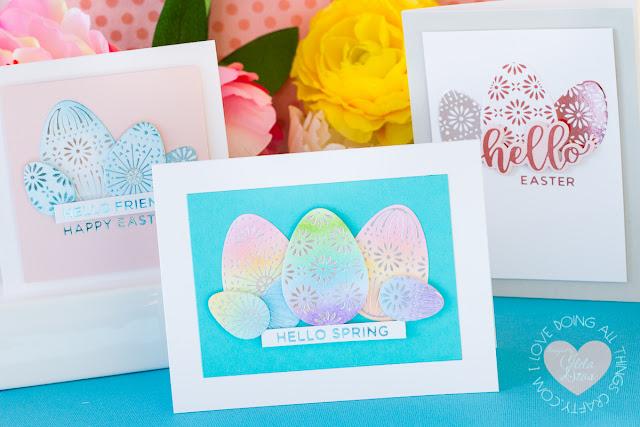 Foiled Easter Egg Card | Spellbinders March 2020 Glimmer Hot Foil Kit of the Monthv
