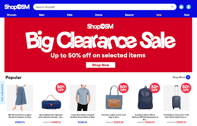 big clearance sale at ShopSM