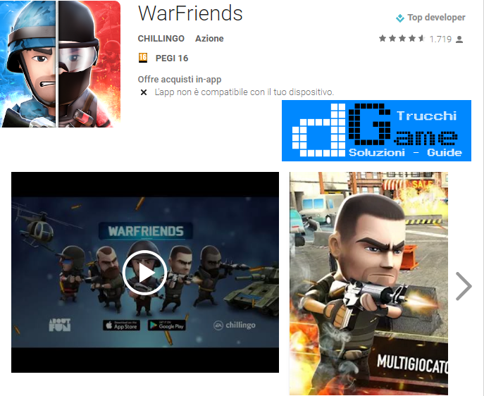 Trucchi  WarFriends Mod Apk Android v1.1.1