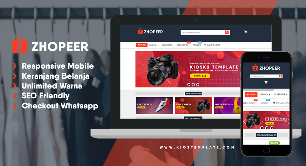 ZHOPEER Responsive Blogger Template