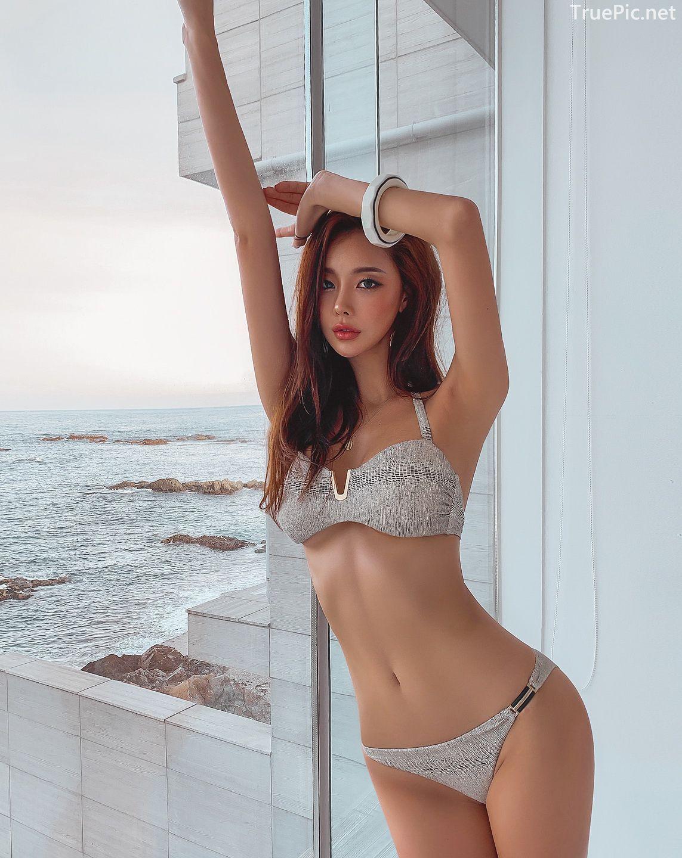 Korean lingerie queen - Park Da Hyun - Chloe python Bikini - Picture 2