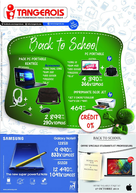 catalogue tangerois back to school septembre octobre 2018