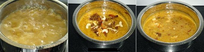 simmer the payasa, add dry fruits