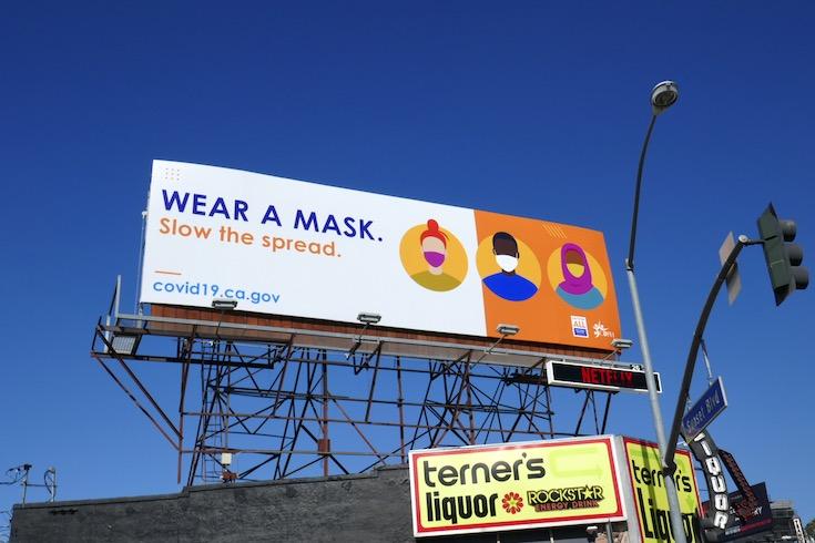 Wear a mask COVID19 billboard