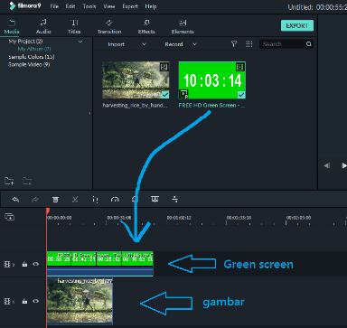 edit video green screen filmora