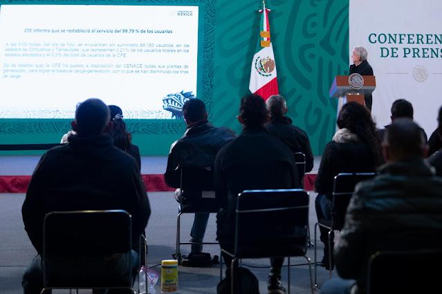 México tiene alternativas para garantizar suministro de energía eléctrica: AMLO