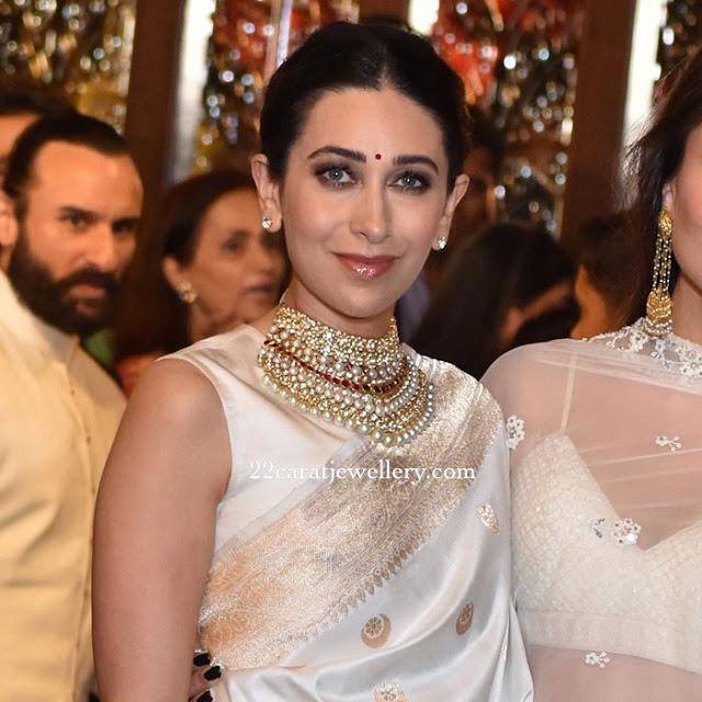 Karishma Kapoor Kundan Pearl Choker