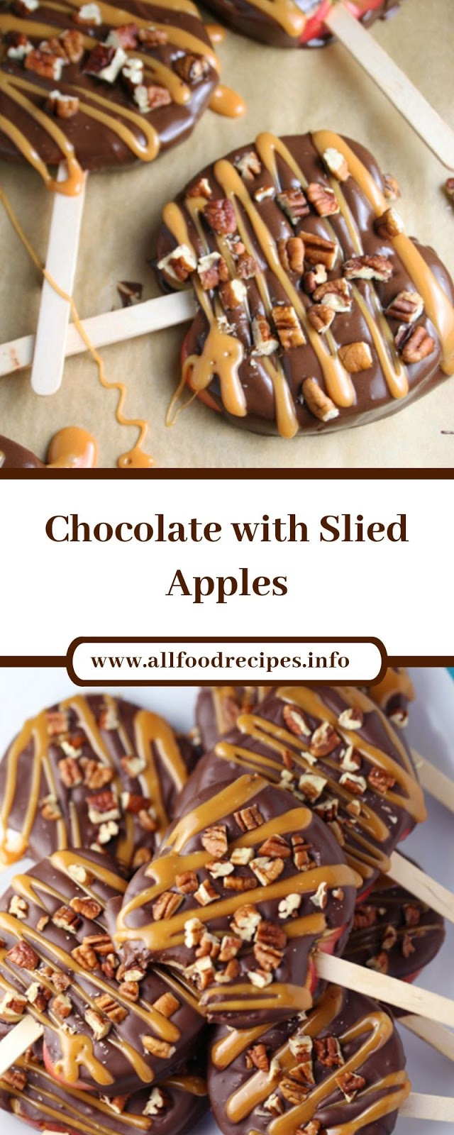 Chocolate with Slied Apples