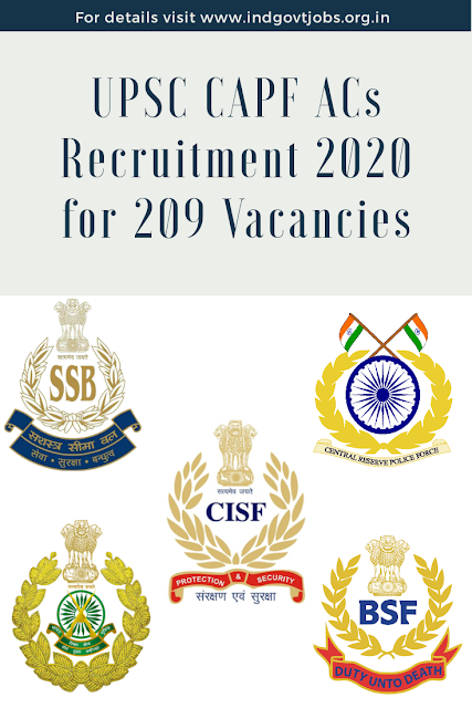 UPSC CAPF AC Recruitment