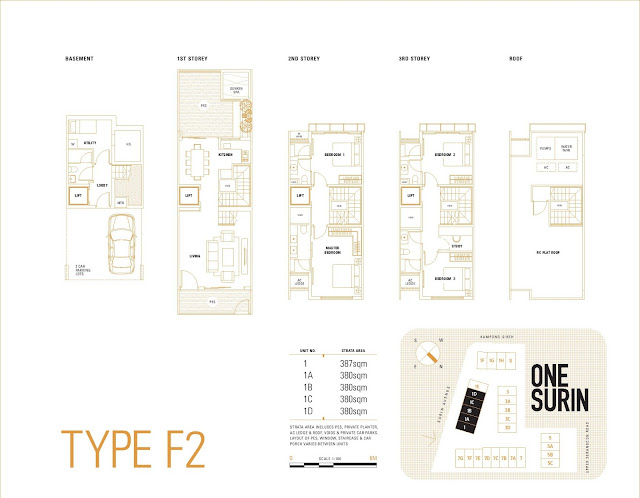 One Surin Floor Plan Type F2