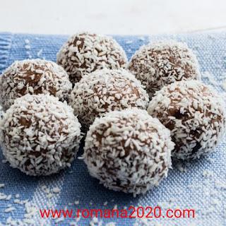 طريقة تحضير كرات الشوكولاتة بجوز الهند / حلويات مغربية / طبخ مغربي