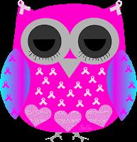 Câncer de mama laço coruja dormindo - Criação Blog PNG-Free