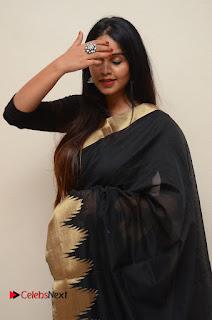 Actress Sai Krupa Pictures in Black Saree at Iddharam Audio Launch  0012.JPG