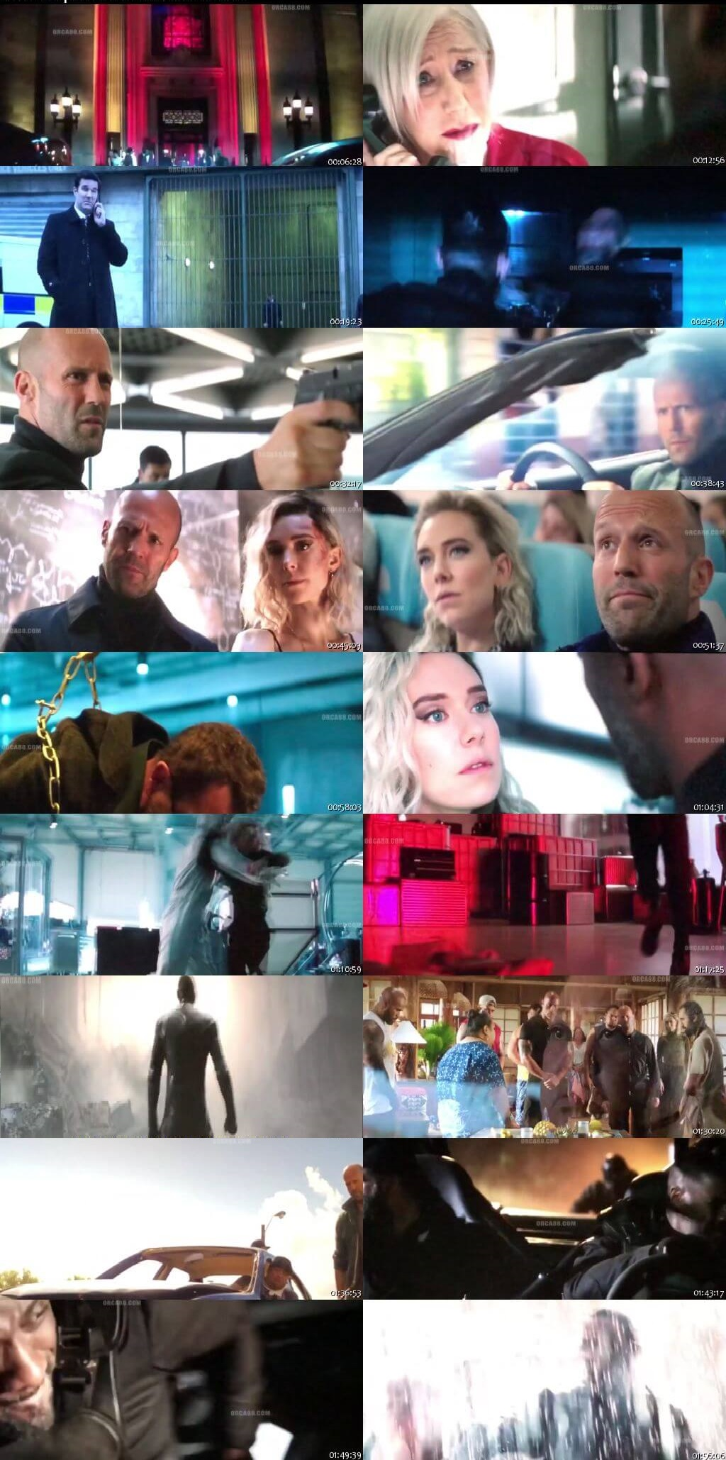 Screen Shot Of Fast & Furious Presents: Hobbs & Shaw 2019 300MB Full Movie Hindi Dubbed Free Download 480P HDCam   PreDVDRip Small Size PC Movie