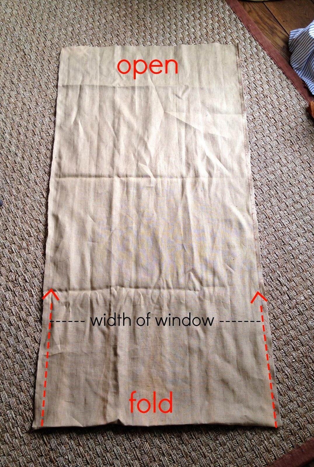 fabric cut for roman shade