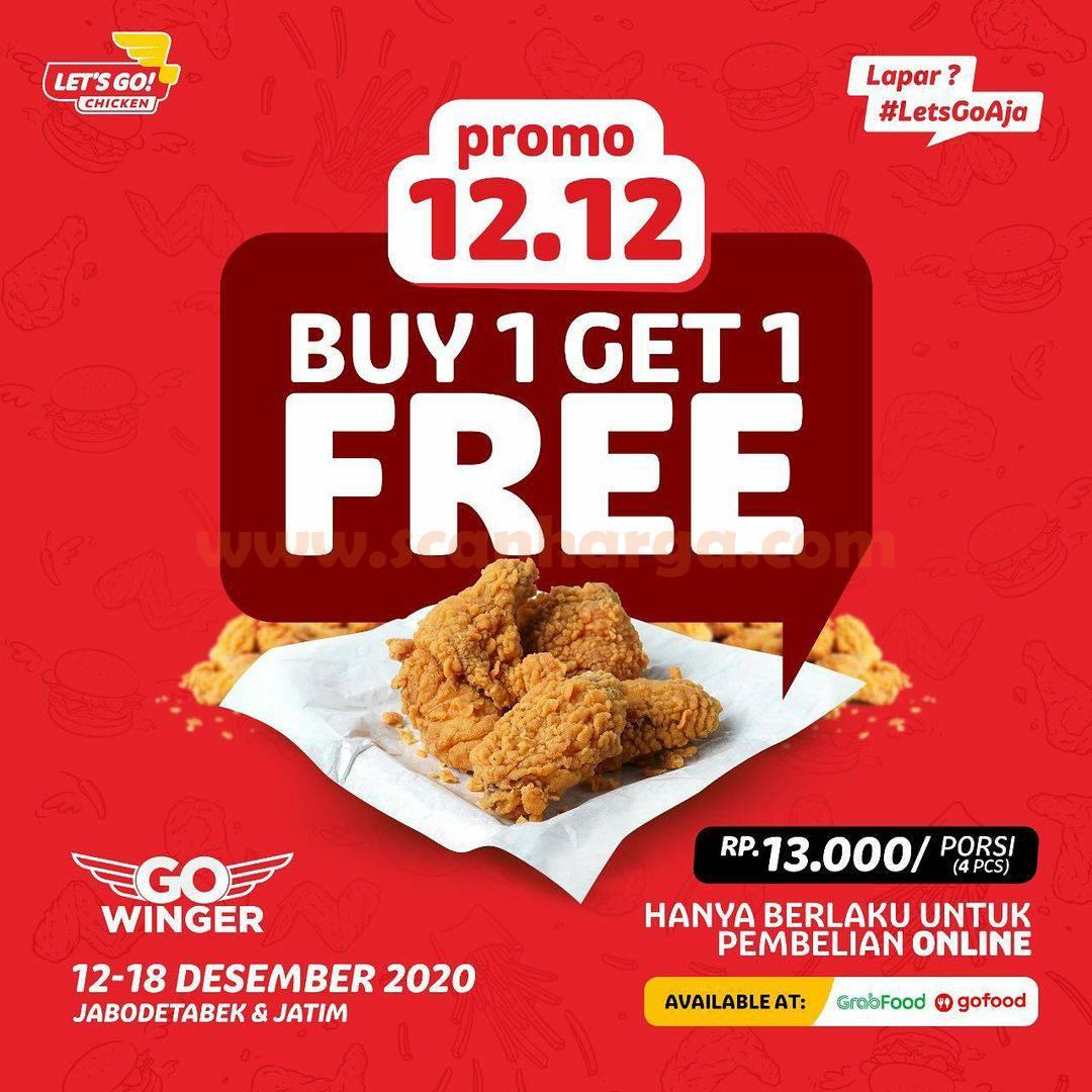 Lets Go Chicken Promo 12.12 – Beli 1 Gratis 1 hanya Rp 13.000 porsi [4 pcs]