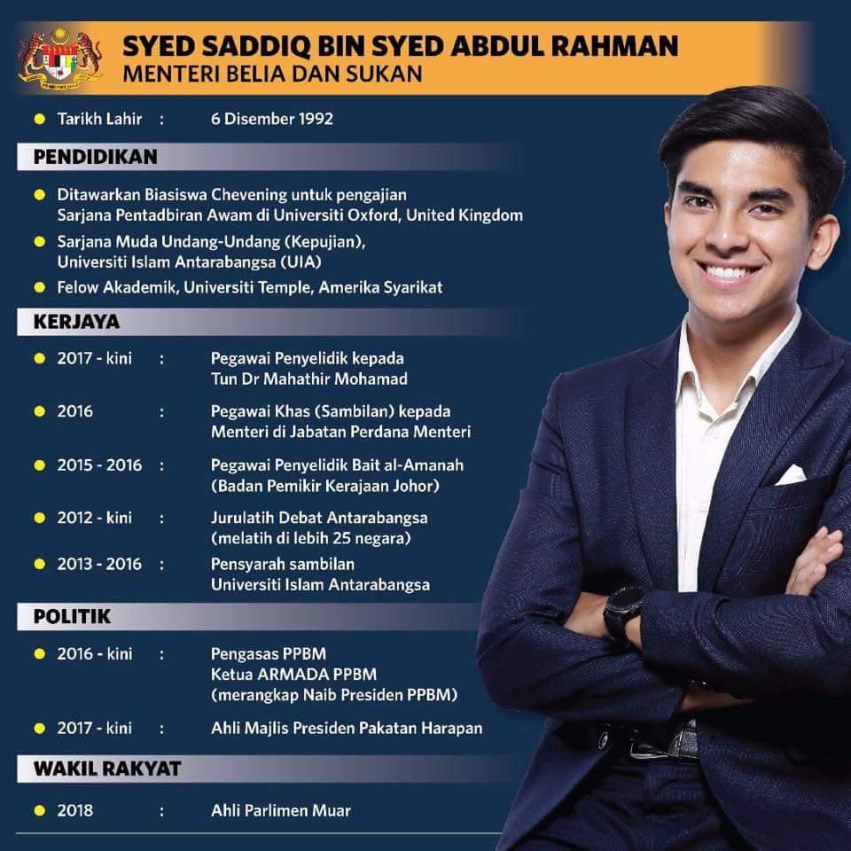 Perkenalkan Syed Saddiq Syed, Menteri Pemuda Berusia 25 Tahun