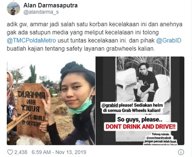 Fakta Skuter Listrik Yang Menewaskan 2 Orang di Jakarta - Twitter