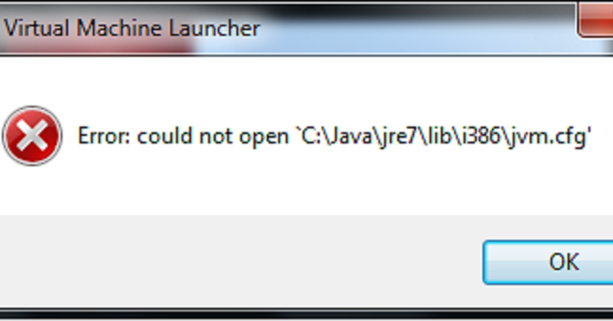 Error: could not open 'C:\Java\jre8\lib\amd64\jvm cfg' | Java67