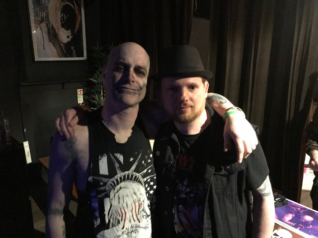 Ex-Misfits singer Michale Graves with Mr Peach at Rebellion, Manchester Feb 2018
