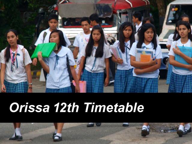 Odisha Board 12th Time Table 2018 Orissa CHSE Exam Date bseodisha.nic.in