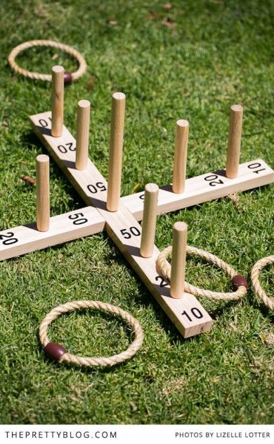 DIY ring toss yard game