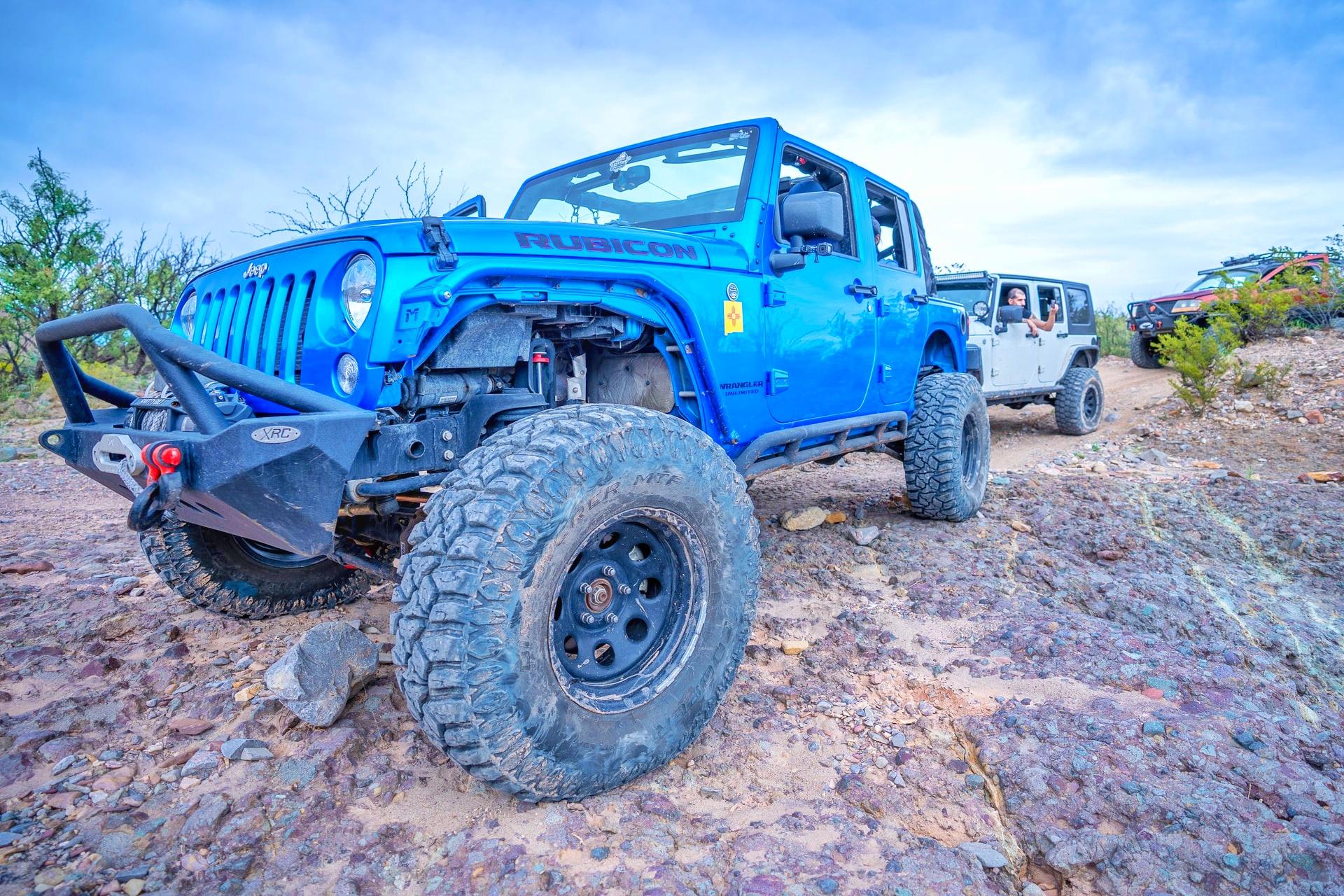 Jeep, wrangler, blue color
