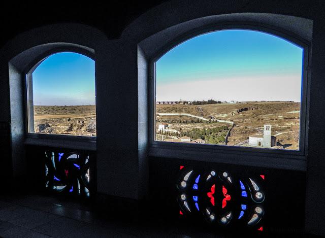 A vista dos aposentos reais no Alcázar de Segóvia