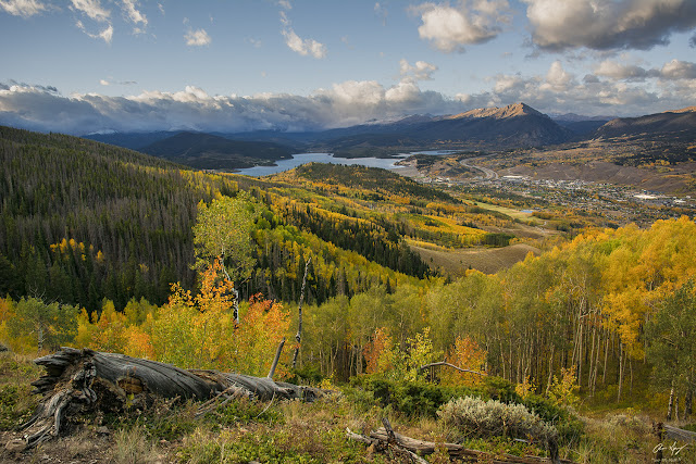 Fall Colors on Lake Dillon and Silverthorne Colorado photography by Aaron Spong