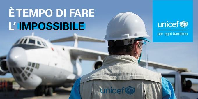 Unicef, al via la campagna ''Un vaccino anti-covid per tutti''