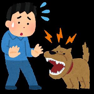 犬がなつかない人のイラスト(男性)