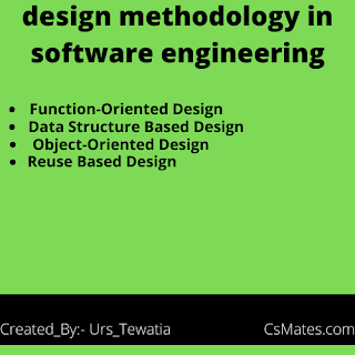 design methodology in software engineering