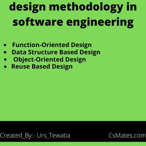 design methodology in software engineering