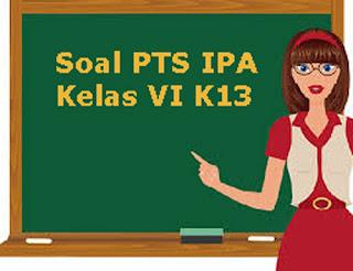 Contoh Soal PTS / UTS IPA Kelas 6 Semester 1 K13 Terbaru Tahun 2019/2020