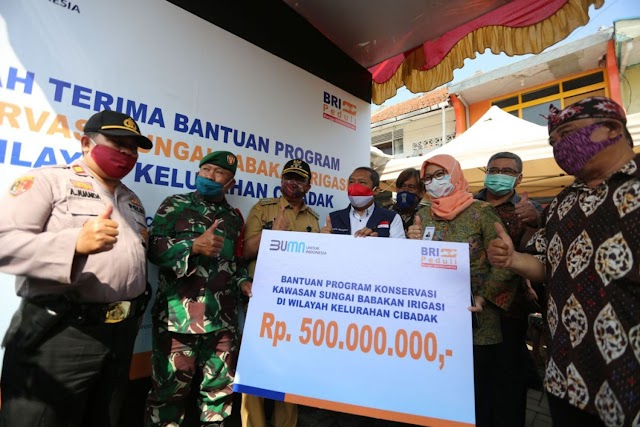 Pemkot Bandung Peroleh Bantuan Dari BRI Untuk Konservasi Sungai Babakan Irigasi Pagarsih