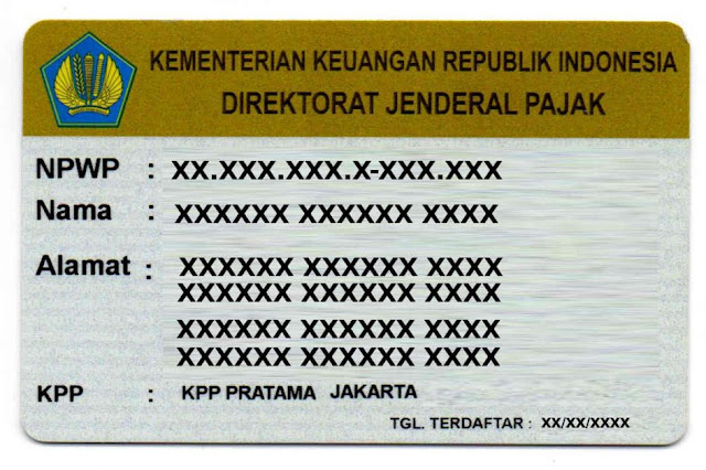 contoh kartu npwp