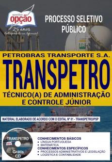 apostila TRANSPETRO 2018 Técnico de Administração e Controle Júnior
