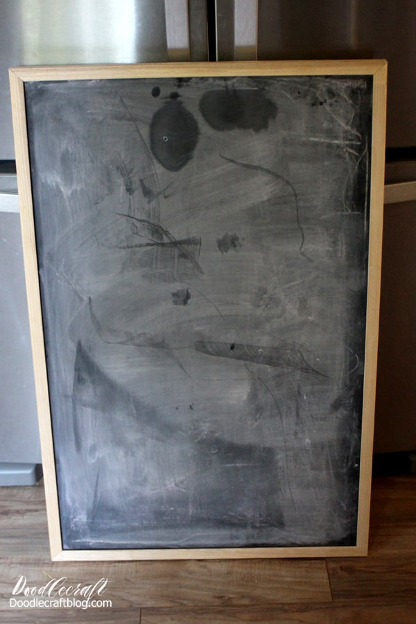 Old chalkboard rescued from the dumpster