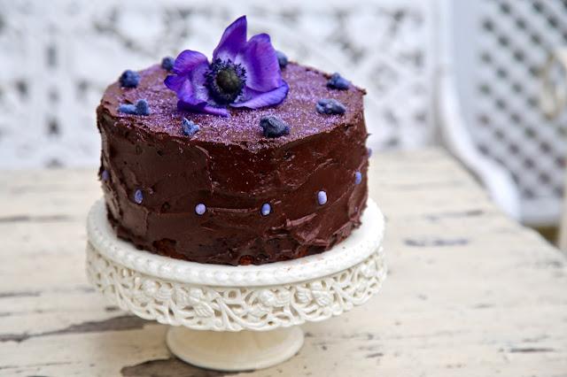 chocolate violet cake