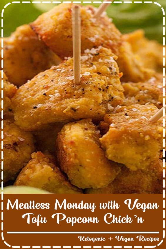 to the Miratel blog and to our weekly vegan recipe share in honour of Meatless Monday Meatless Monday with Vegan Tofu Popcorn Chick'n