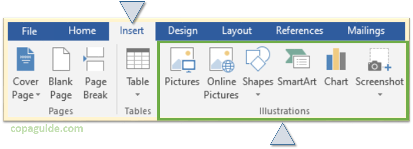 Insert graphics in MS-Word Hindi Notes