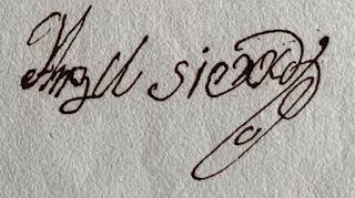 Firma de Angel Sierra Peñuelas Genealogia Malta