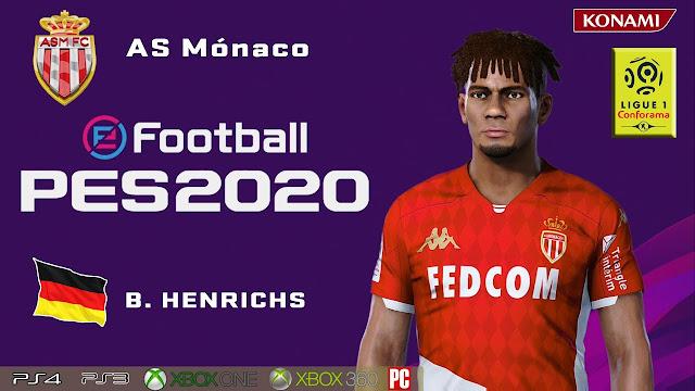PES 2020 Benjamin Henrichs Face by maquiavelo40