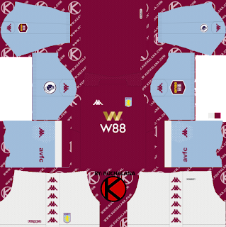 Aston Villa FC 2019/2020 Kit - Dream League Soccer Kits