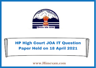 HP High Court JOA IT Question Paper Held on 18 April 2021