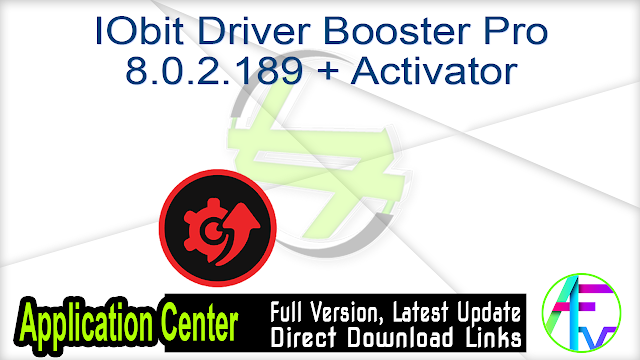 IObit Driver Booster Pro 8.0.2.189 + Activator