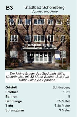 Quartett-Karte für das Stadtbad Schöneberg im Quartett Schwimmbäder in Berlin (Zitronenpresse)