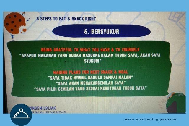 tahap 5 dalam pembiasaan ngemil bijak